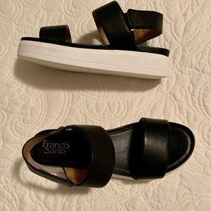 Franco sarto black sandals size 9